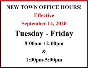 New Town Office Hours